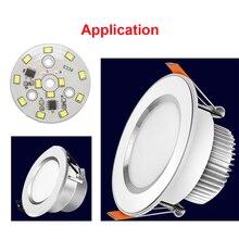 Светодиодный SMD чип 3 Вт, 5 Вт, 7 Вт, 9 Вт, 12 Вт, Смарт IC, не драйвер, светильник с бусинами для DIY, светильник вниз, белый, теплый белый