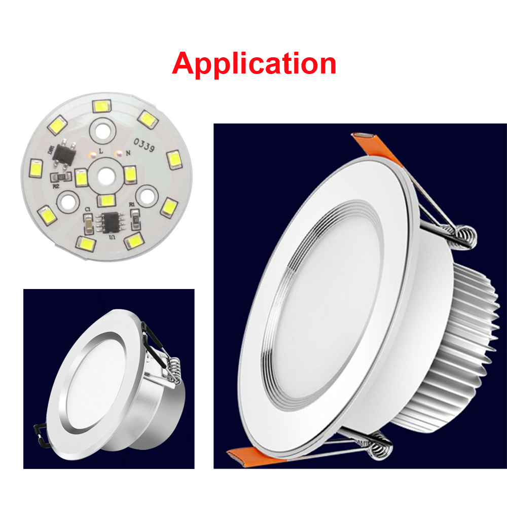 LED SMD CHIP 3W 5W 7W 9W 12W Smart IC No Driver Light Beads For DIY Bulbs Downlights White Warmwhite
