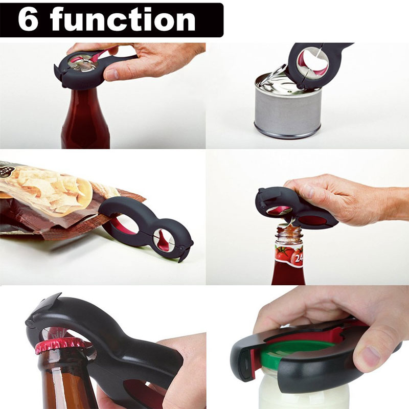 6 in 1 Multi Function Twist Bottle Opener And All in One Jar Gripper Opener Claw 8