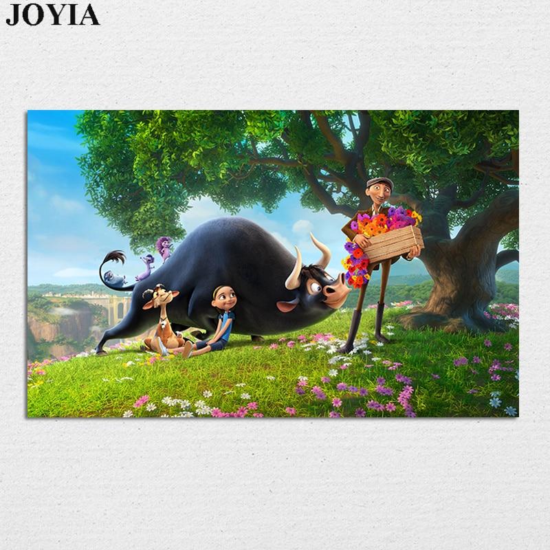 Ferdinand Movie Poster Bull Adventure Animation Wall