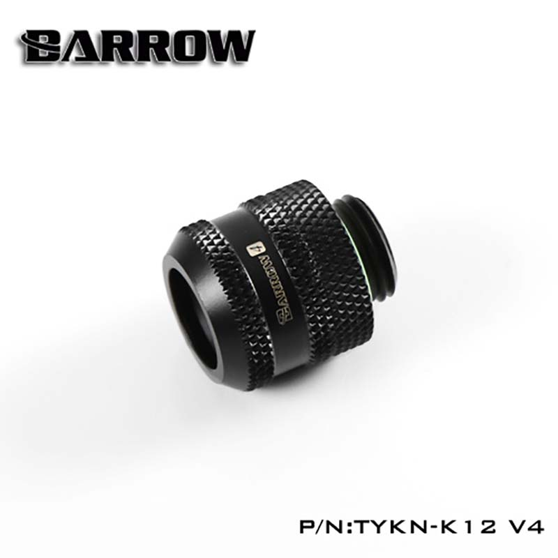 Barrow Water Cooler Hard-tube Connection Fitting OD12mm/14mm/16mm Black/Silver/White/Gold Hand Twist Heatsink Gadget