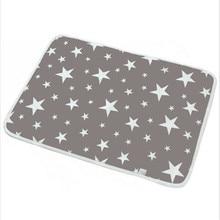 Моющийся для новорожденных девочек и мальчиков, детский хлопковый матрас с геометрическим рисунком, дышащие принадлежности, водонепроницаемая простыня для кроватки, один предмет