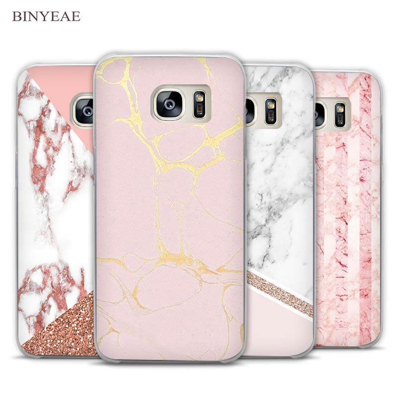 Binyeae Stalactite Pink Marble Glitter Clear Phone Case