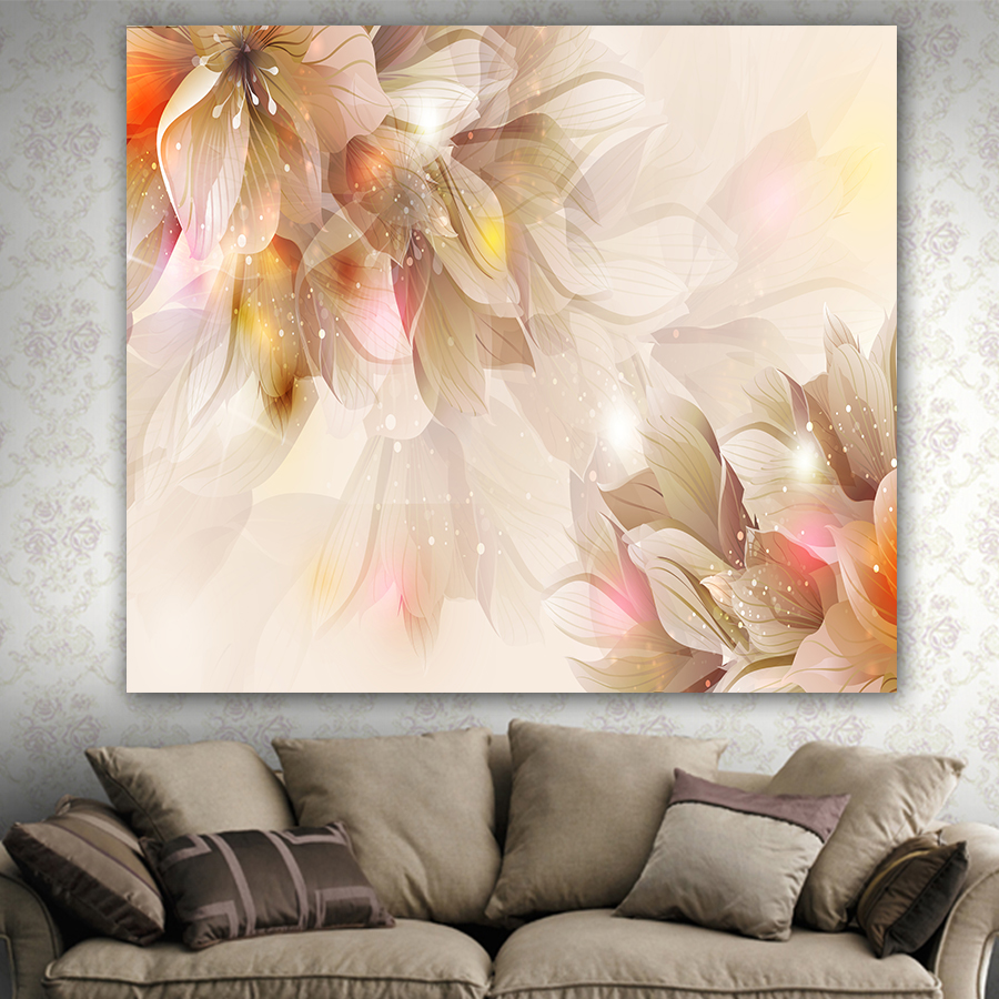 High quality home decorative tapestry scenic flower printed wall hanging carpet Comfortable No fade blanket LS017