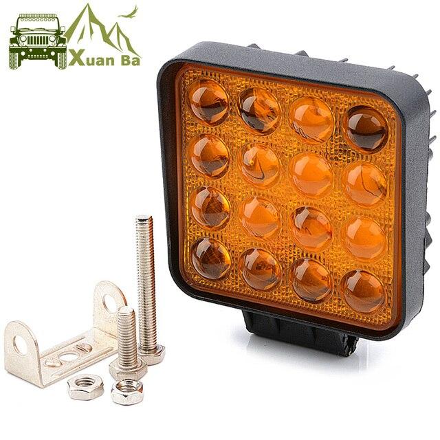 5D Lens 4.5 Inch Square Led Work Driving Light For 12v 24v Trucks 4x4 off road ATV UTV 4WD Offroad Fog Lamp Trailer farm vehicle