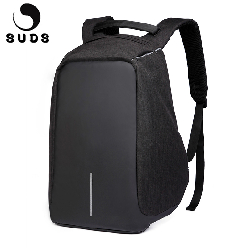 SUDS Computer Laptop Backpack Men Travel School Bags For Teenagers USB Large Capacity College Waterproof Mens Backpack Bag 2017 purple flowers printed dream teenagers backpack fresh preppy adorable sthdents school bags fashion travel hiking computer bag