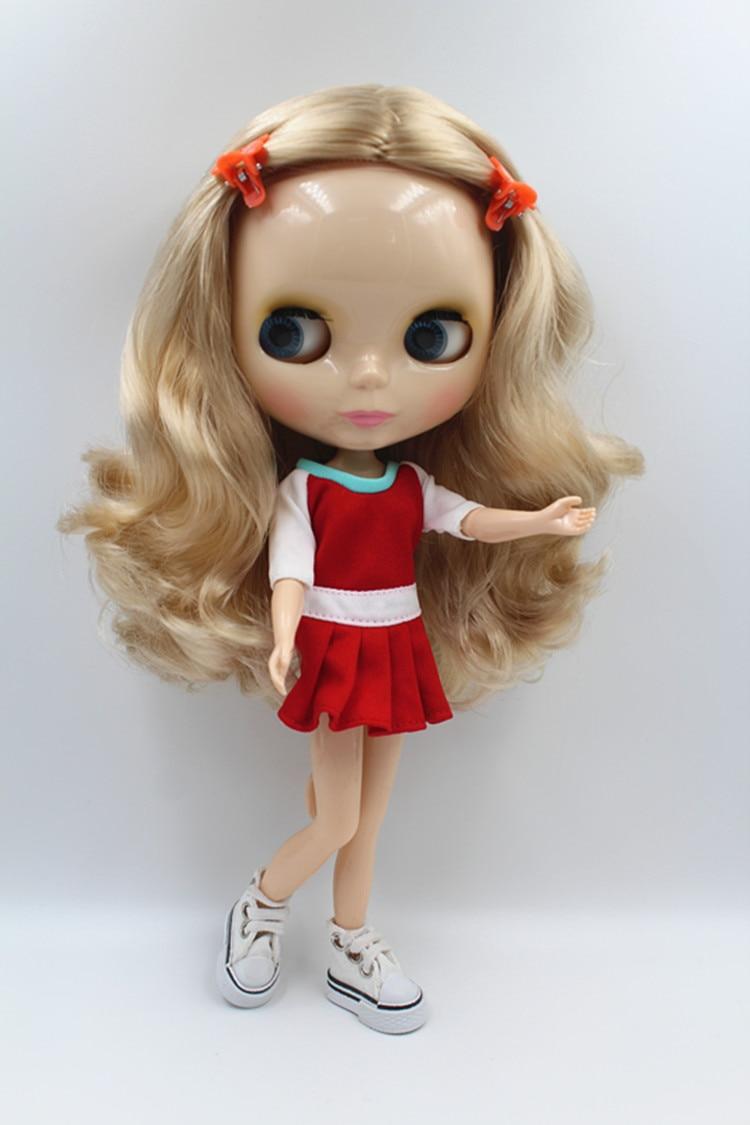 Blygirl Doll Light cheveux dorés Blyth Doll Body La mode peut changer de maquillage