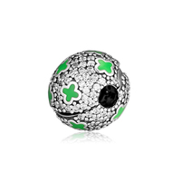 Fits Pandora Charms Bracelets Pale Cosmic Stars Clip Beads 100% 925 Sterling Silver Jewelry Free Shipping