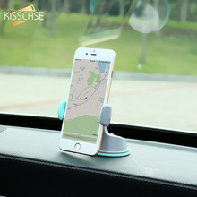 KISSCASE Car Phone Holder For iPhone Samsung Air Vent Mount Dashboard Windshield Suction Holder Multifunction Car Phone Holder