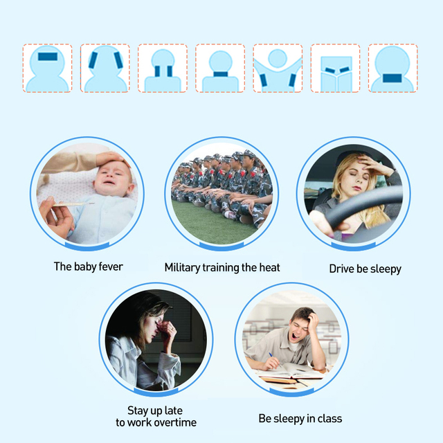 10bags Cooling Patches Baby Fever Down Medical Plaster Migraine Headache Pad Lower Temperature Ice Gel Polymer Hydrogel D1731 2