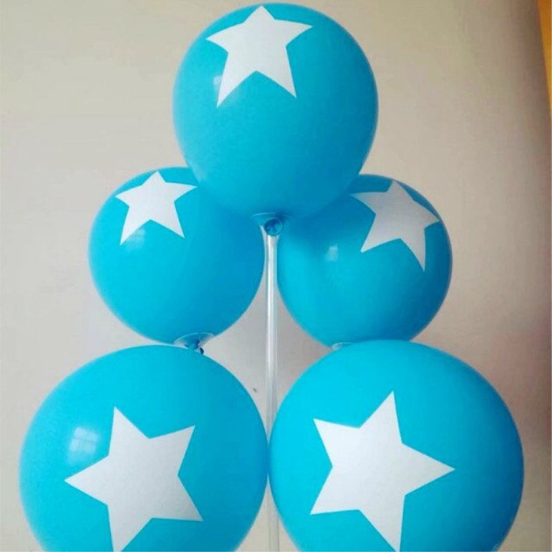 Star Blue Balloons 30pcs/lot12 Inch 2.8g Round Latex Inflatable Balloon Decoration Party Birthday Boy Baloons Wedding Supplies