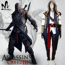 Assassins Creed III Connor Kenway Cosplay Costume Game Halloween costumes for adult men Assassins Creed Cosplay Costume Connor