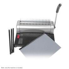 Машина для переплетения бумаги А4, машина для переплетения 21 отверстия, 12 листов, штамповка 450 листов, инструменты для офиса и дома А5 А6 7