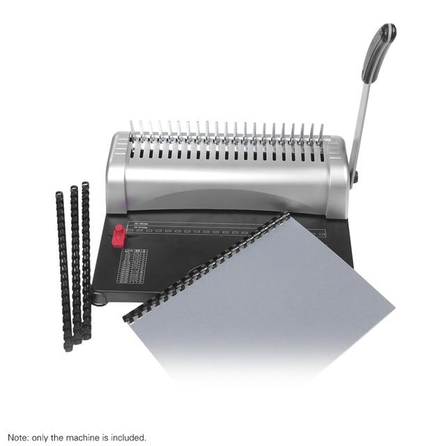 A4 ورقة ماكينة تجليد الناخس الموثق 21 ثقوب ماكينة تجليد 12 ورقة اللكم 450 ورقة ملزمة مكتب أدوات المنزل A5 A6 7