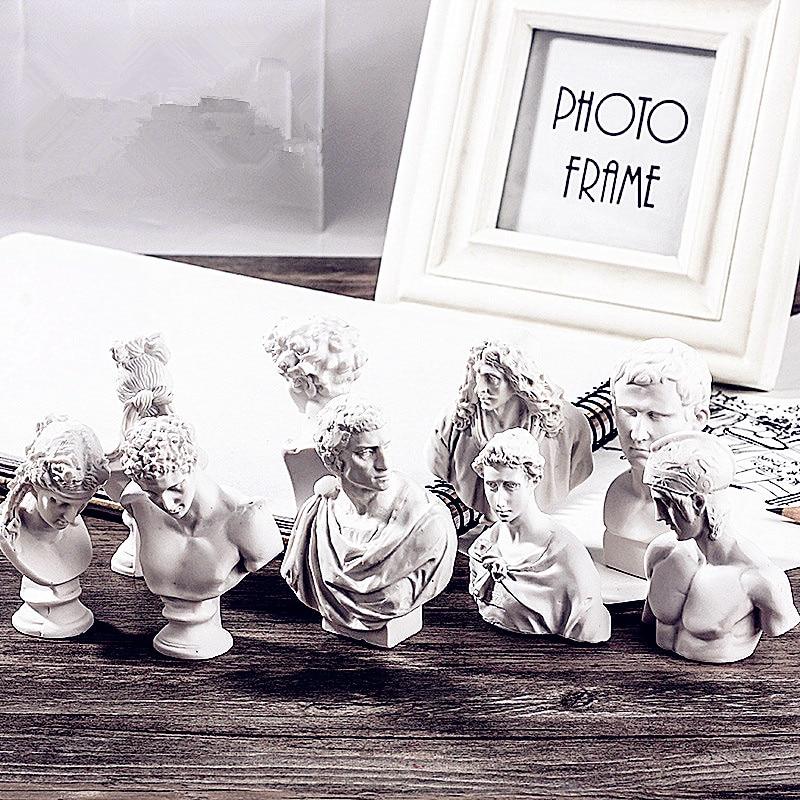 10Pcs/set Ares Agrippa Sculpture Giuliano De' Medici Marcus Junius Brutus Statues Resin Plaster Art&Craft Home Decorations L2713