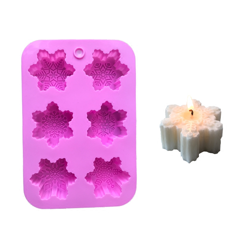 Snowflake Christmas Candle Mould Wedding Silicone Candle DIY Silicone Mold Handmade Soap Moulds Craft DIY Mould 3D Candle Making