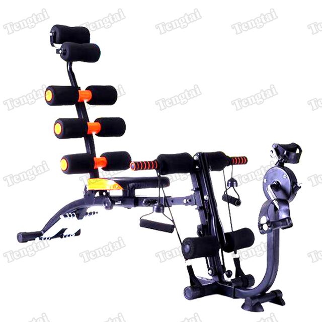 Home Gym Machine Six Seven Pack Abs Exercises Abdominal Workout Spinning Bike Bench