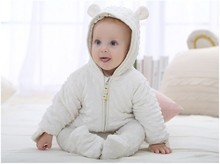 2016 Winter Newborn Baby Outfits Cotton Thicken Warm clothes Infant Hooded Jumpsuit Clothing Baby Boys Girls Rompers Overalls
