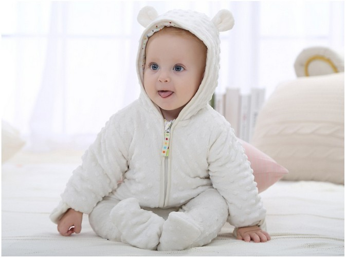 2017 Winter Newborn Baby Outfits Cotton Thicken Warm clothes Infant Hooded Jumpsuit Clothing Baby Boys Girls Rompers Overalls spring baby boys girls clothing winter baby hooded rompers cotton padded kids warm overalls climb clothes for newborn babies