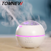 TOMNEW 150ml Aroma Diffuser Humidifier Ultrasonic Aromatherapy Essential Oil Diffuser With Flower For Office Home Bedroom