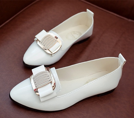 women casual pointed toe flat shoes lady cool spring pu leather crystal flats female cool white office shoes sapatos femininos new spring summer women flats brand casual women shoes flat heels pu fashion crystal shoe pointed toe soft soles