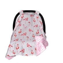 Infant Car Set for Baby Nursing Cover Flamingo Animal Breastfeeding Scarf for Newborns Shopping Cart Cover Feeding Accessories