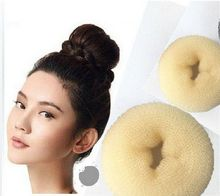 3Pcs/set S M L 3 Different Sizes Brown Personal Decorations Hair Styling Donut Magic Sponge Bun Ring Maker Former Twist Tools