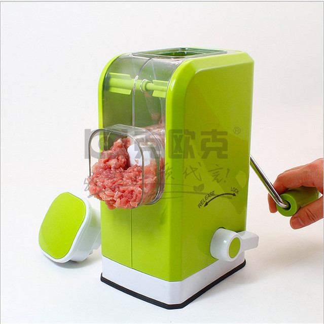 Multi Function Manual Meat Grinder In The Kitchen Household Mixer Ground Machine 6 Blade Knife Design Hand Blender