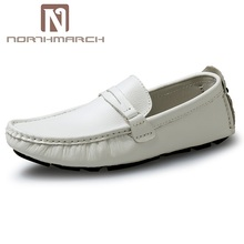 цены NORTHMARCH Shoes Men Genuine Leather Fashion Brand Mens Loafers Slip-On Driving Shoes Mens Moccasins Zapatos Hombre Casual Cuero