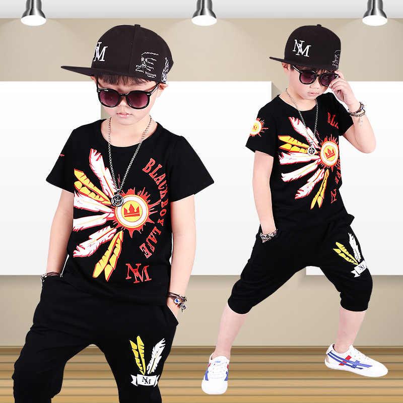 ff3632c54 Cool Boys T Shirts Pant Dancewear Hiphop Sets Kids Street Dance Clothes  Kids Hip Hop Costumes