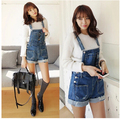Plus Size S-XL 2017 new women Girl Washed Jeans Denim Casual Hole Jumpsuit Romper Overall Short Cheap Free Shipping