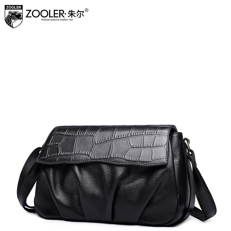Women bag 2017 new zooler genuine leather bag brand fashion quality women leather shoulder messenger bag