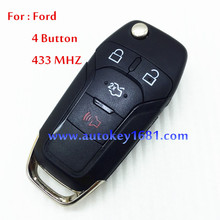 Car Key For Ford Fusion Remote Control 4BT 433MHZ For Car Ford  Free Shipping