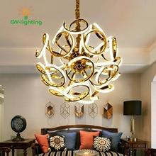 Magic Bean Modern LED Pendant Chandelier Lights For Living Room Dining Room Gold/White Chandelier Lamp Fixtures