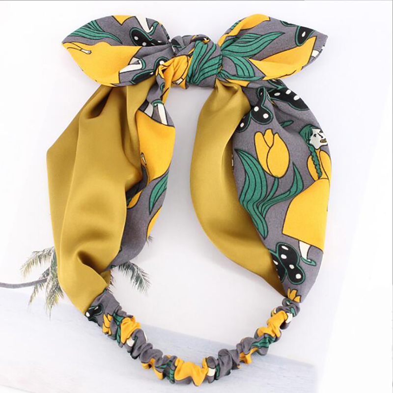 Beautiful Hairband Korean Boutique Rabbit Ears Bow Turban Headband Women Hair Head Bands Wrap Accessories For Women Scrunchy Headband Products Are Sold Without Limitations