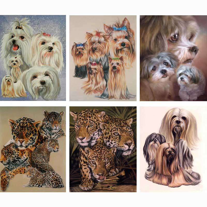 5d diy, gyémánt festés keresztöltés, gyémánt mozaik, kézimunka, kézművesség, teljes gyémánt hímzés, állat, kutya, festés, újévi dekoráció