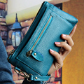 2017 New 100% Genuine good leather brand women wallets 10colors women purse women's handbag women's day clutch bag clutch bag