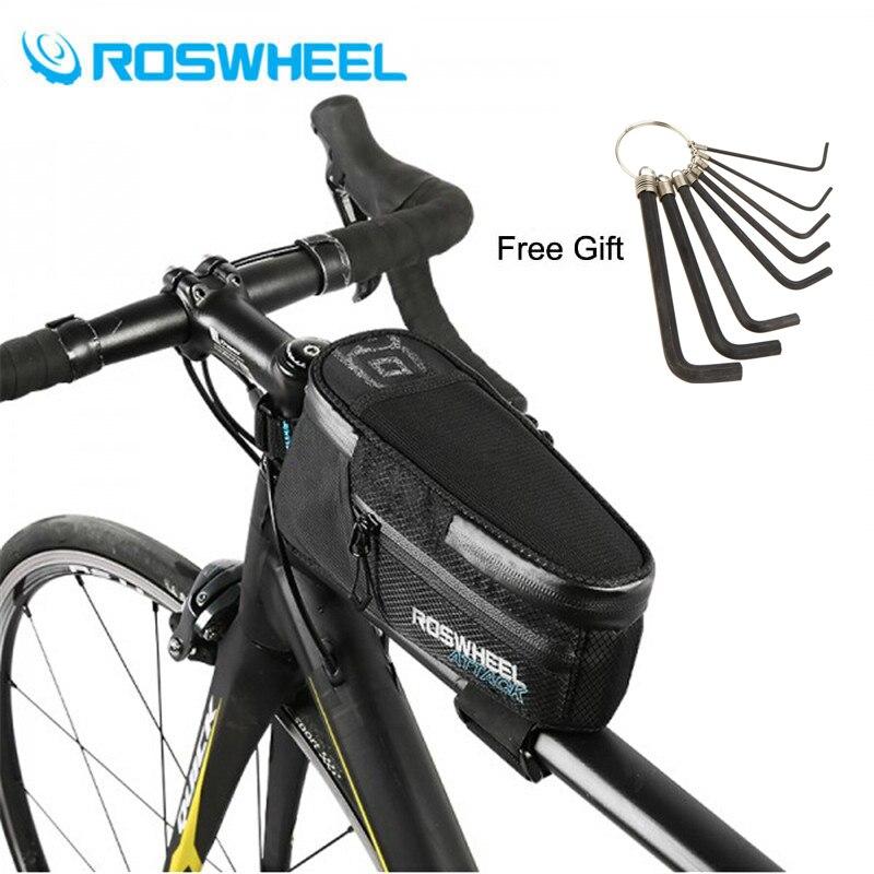 ROSWHEEL 2018 Nouveau Cadre De Bicyclette De Vélo Avant Top Tube Sac Vélo Vélo Accessoires 1.5L 100% Étanche En Stock