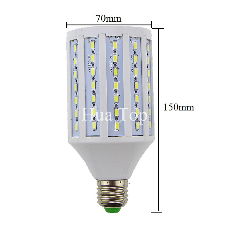 Lâmpadas Led e Tubos lampada e27 98 leds 5730 Temperatura de Cor : Branca Fria(5500-7000k)