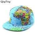 2016 Карта Мира Печатных Hat Хип-Хоп Swag Лето snapback шляпы женщины Мужчины Бейсболка Регулируемая Skate совета gorra кости aba ртп
