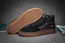 Vans new arrival black sk8-hi pro unisex shoes for men and women autumn high-top skateboarding sneakers free shipping