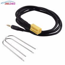 Com duas teclas de rádio para fiat grande punto al-fa 159 adaptador de cabo de entrada aux de carro estéreo reprodutor de áudio de 3.5mm