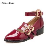 נשים פה רדוד העקב דירות נעליים מחודדות נעלי מרי ג 'יין בנות Sys-1524