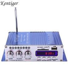 Kentiger hy502 amplificador estéreo do carro de áudio 12v mini 2ch super bass jogador música digital amplificador potência suporte usb mp3 fm hi-fi