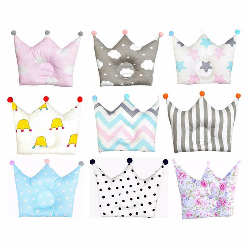 Cute Baby Shaping Pillow Bedding Pillows Prevent Flat Head Crown Baby Pillow Baby Room Decor Baby Decoration Room