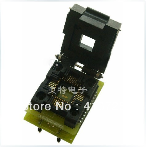 Original PLCC44 to DIP40 block adapter block CNV-PLCC-MPU51 test convert, burn, ic qfp32 programming block sa636 block burning test socket adapter convert