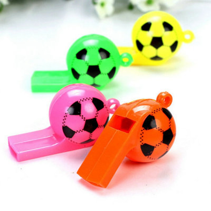Vvsoo 10/20Pcs Cute Mini Soccer Football Party Favors Whistles Sports Birthday Party Gifts Christmas Basket Filler Kids Gifts