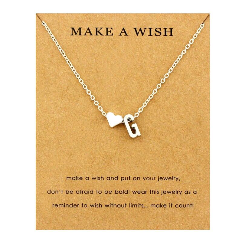 Сердце начальные Подвески ожерелье s персонализированное ожерелье с буквами Имя ювелирные изделия для женщин мужчин аксессуары подруги любовника пара подарок - Окраска металла: NE1661