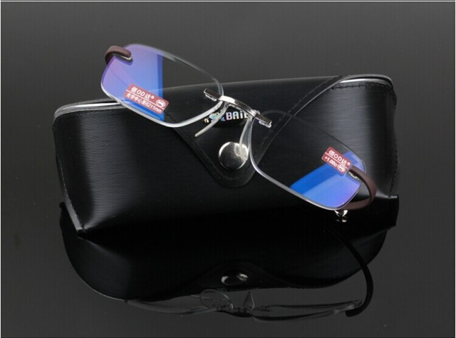 TR90 Marco Ultraligero Gafas Sin Montura de lujo y de negocios Por Encargo con receta gafas de miopía lente Fotocromático-1 a-6