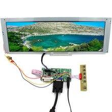 لوحة تحكم DVI VGA LCD مع لوحة تحكم 14.9 بوصة 1280x390 20 دبوس 2CCFL لوحة LCD الخلفية